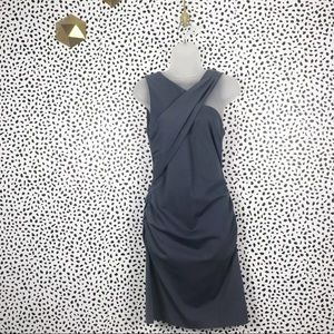 Banana Republic Gray Fitted stretch Dress